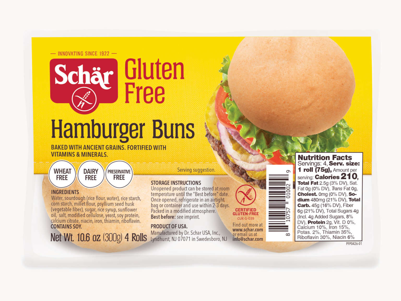 HAMBURGER BUNS 10.6oz