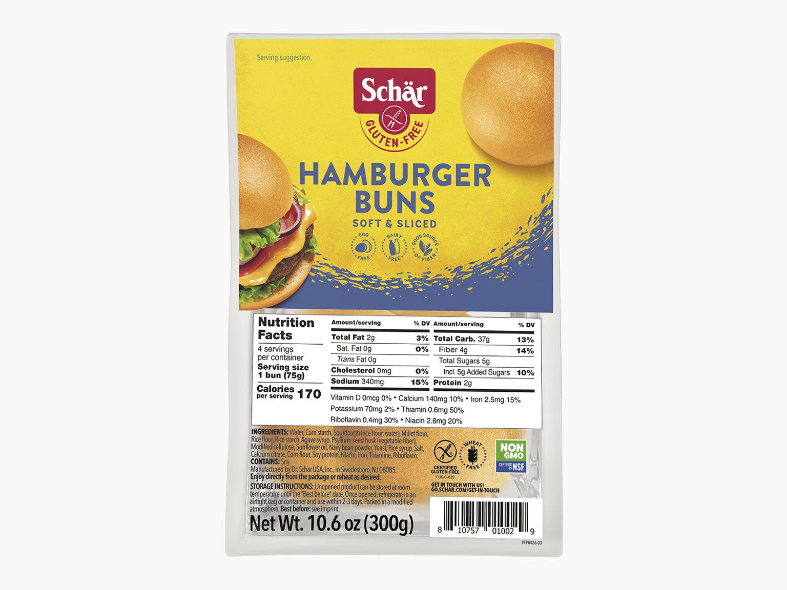HAMBURGER BUNS 10.6oz