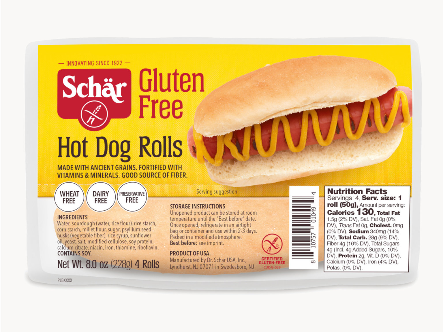 HOT DOG ROLLS 8oz